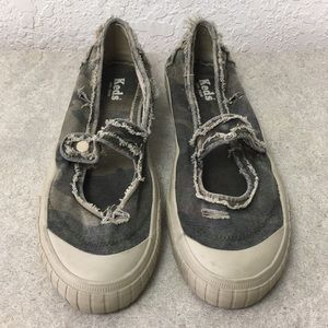 Women Keds Loafers Army Shoes size 9